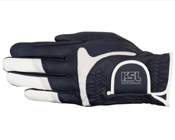 RSL Rotterdam TOUCH Riding Glove - Navy/White - 4Pony.com