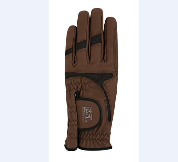 RSL Rotterdam Riding Glove - Brown - 4Pony.com