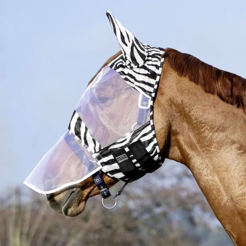 USG Fly Mask with Zebra Design - 4Pony.com