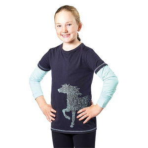 Harry Hall T-Shirt Junior Navy - 4Pony.com