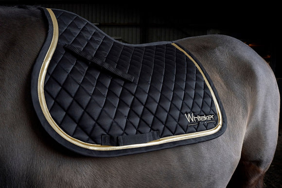 Whitaker Saddle Pad Thornton Black/Gold - 4Pony.com