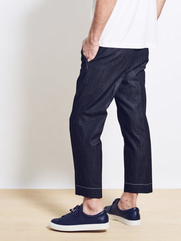 BLAKE Crop Japanese Denim Tailored Trousers