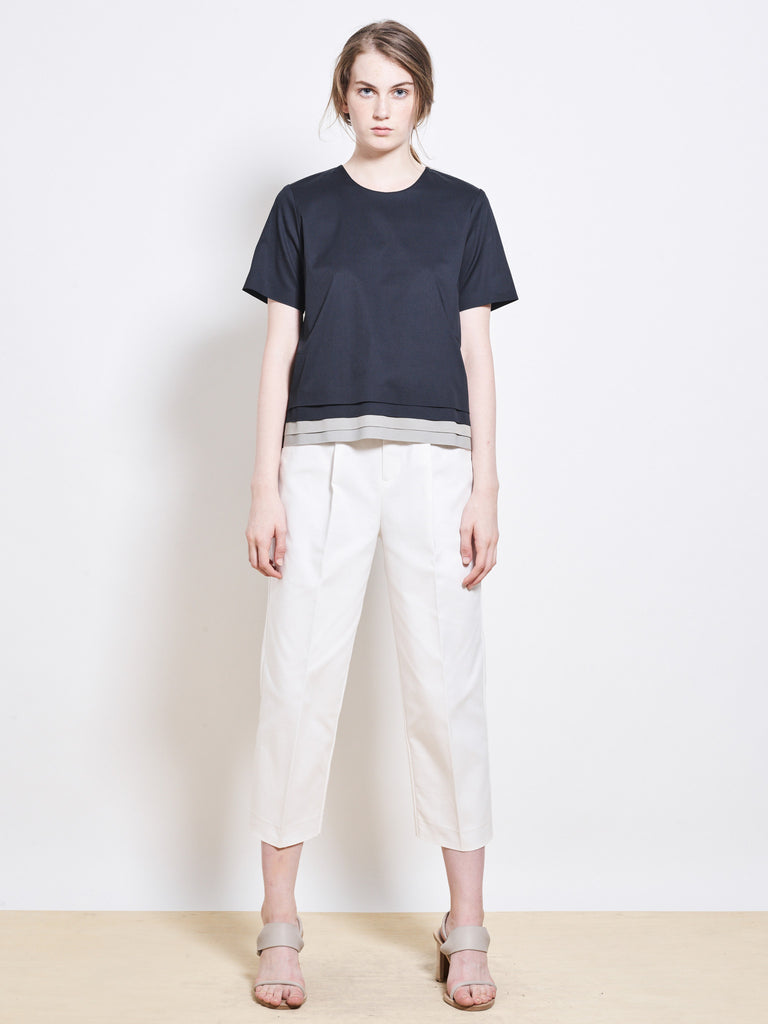 COMO Bonded Cotton Crop Pants