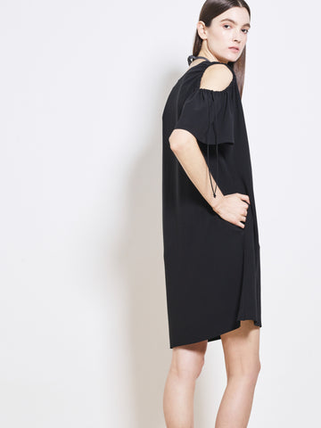AUBREY Crepe Peep Shoulder Sheath