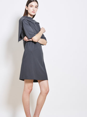 FIORI Crepe Draped Sheath