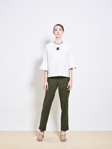 BEAMS Oxford Wool Crop Pants