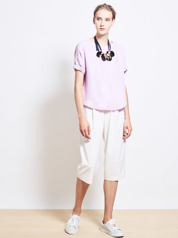 LOUISE Cupro Colour Block Tee