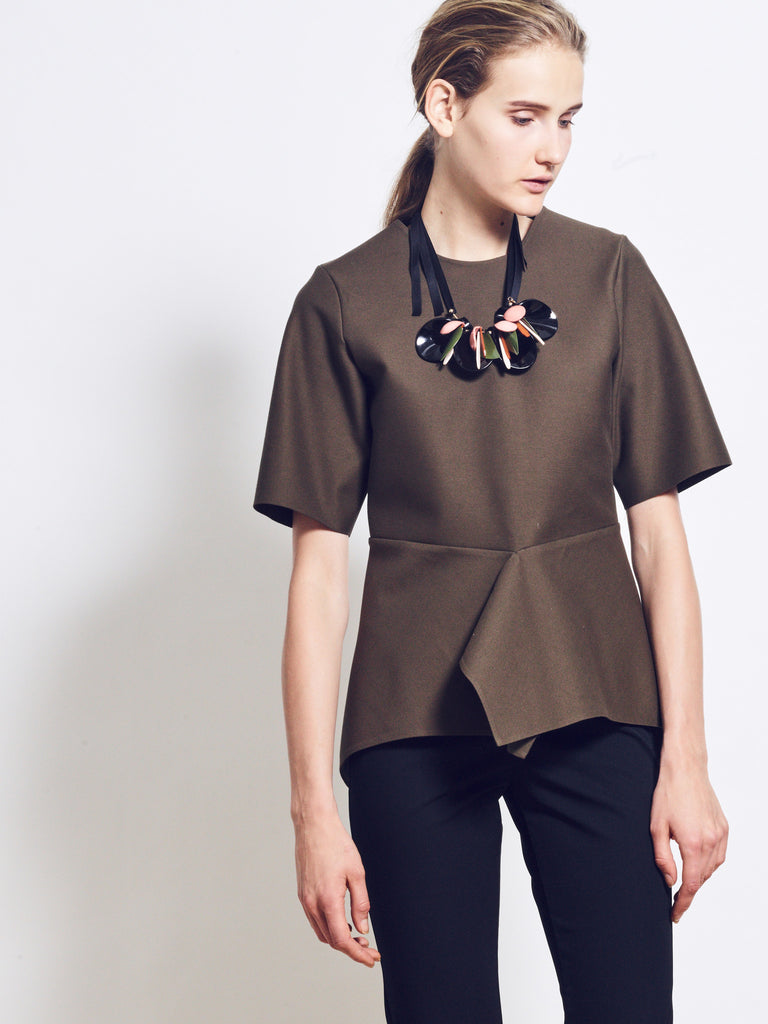 EDITH Cotton Loopback Jersey Top