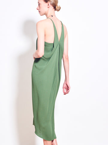 SIENNA Georgette Draped Back Dress