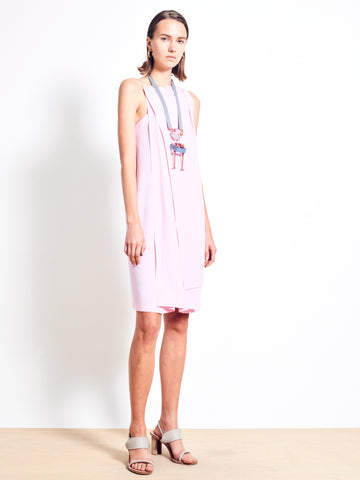ELIJAH Crepe Layered Dress