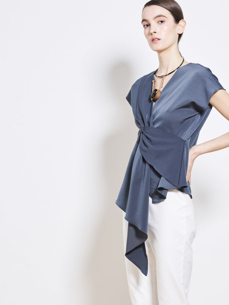 ELOISE Crepe Draped Top