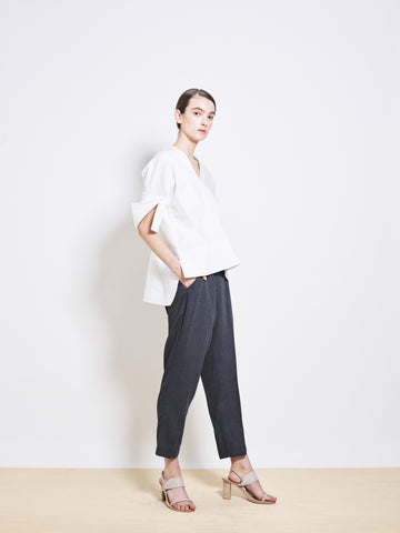HARDIN Wool Crepe Crop Pants