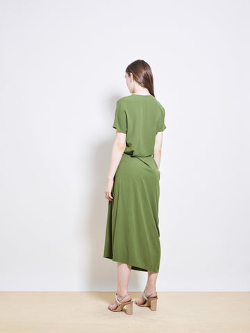 JAYNE Crepe Sarouel Dress