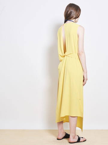 GUINEVERE Crepe Wrap Dress