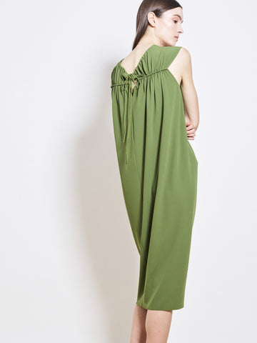 ROSETTA Crepe Ruched Dress