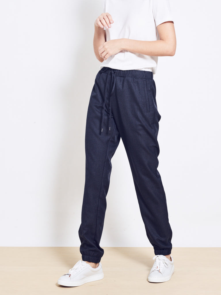 LOGAN Wool Crepe Pants