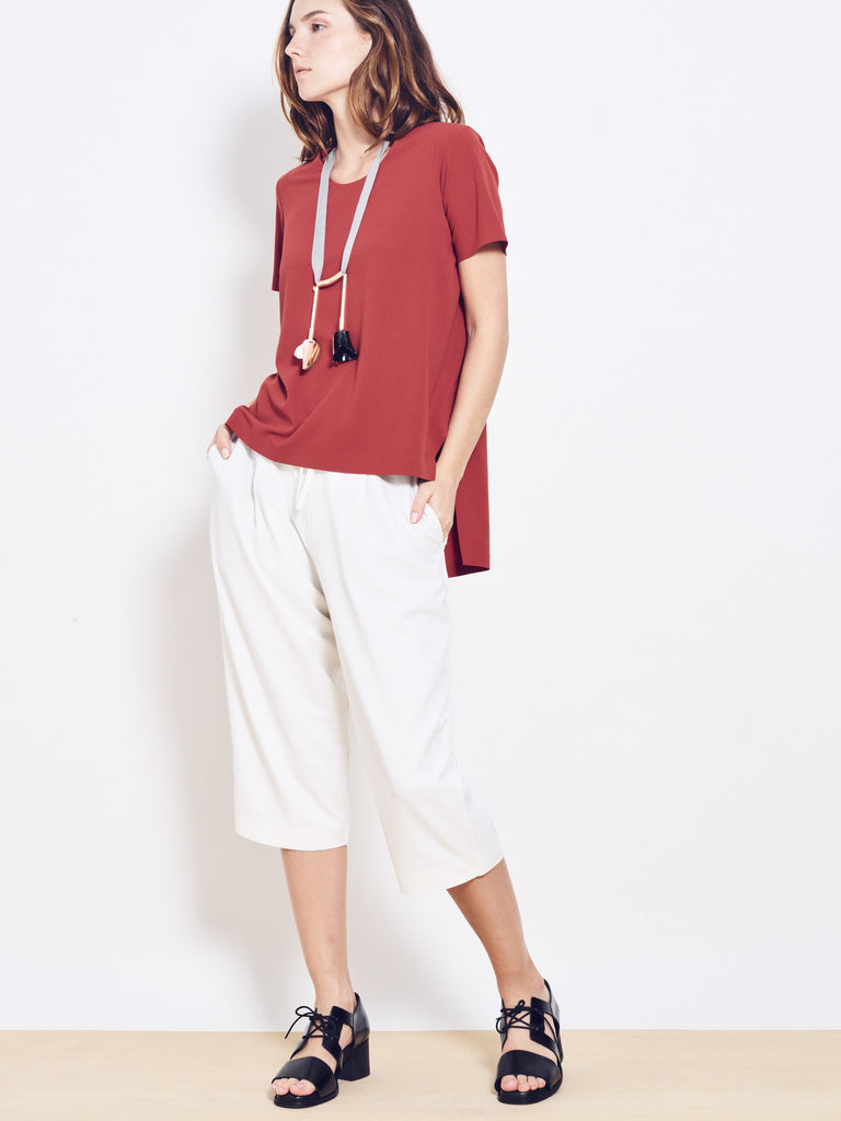 LYON Tiered Crepe Top