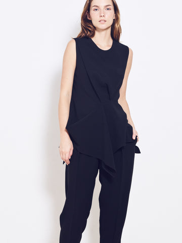 ARIES Crepe Cady Draped Top