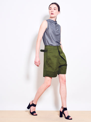 TOBY Cotton Twill Tailored Shorts