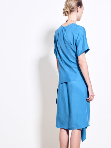GABLE Cupro Wrap Dress