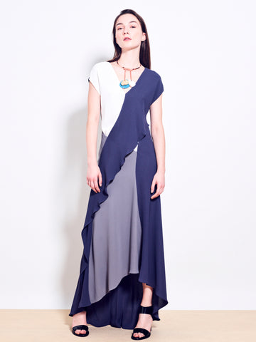 JACQUES Double Georgette Maxi Dress
