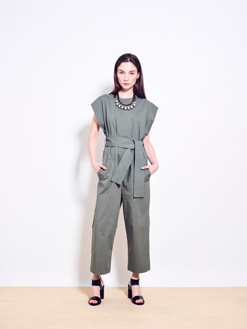 LARKE Stretch Cotton Jumpsuit