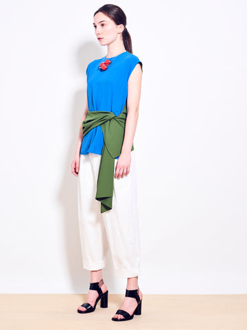 ELLIE Crepe Colour Block Top
