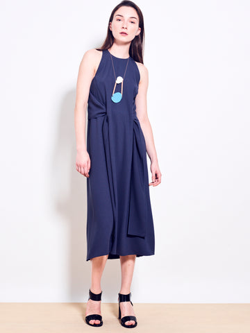HALSTON Crepe Dress