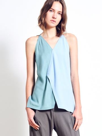 AMALYN Twill Colour Block Top