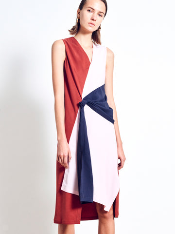 PRISCILLA Twill Colour Block Dress