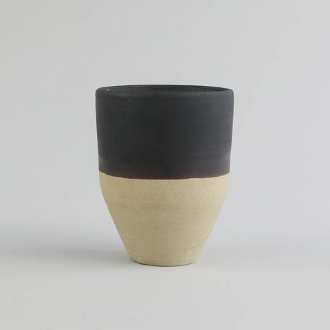 Two-Tone Tapered Vessel with Candle