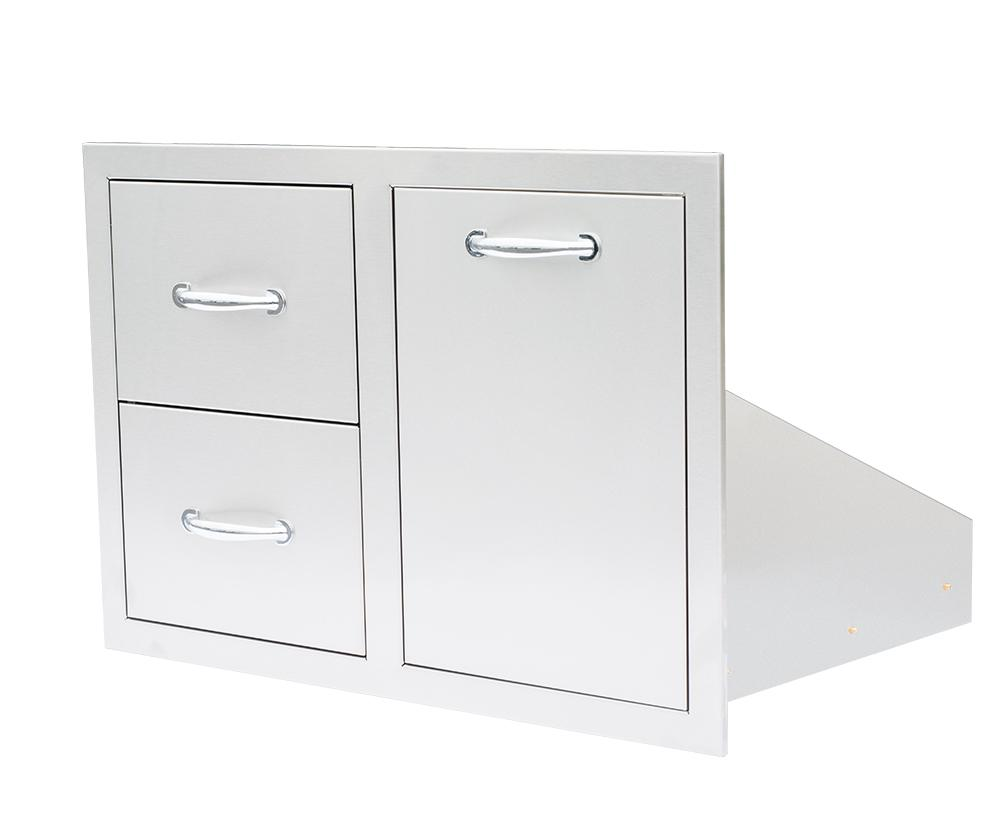 "33""  2-Drawer & Vented LP Tank Pullout Drawer Combo"