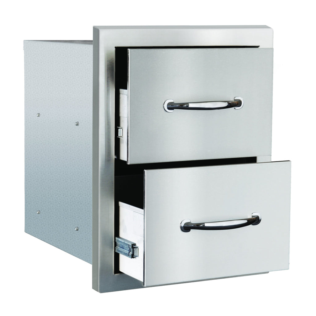 "17""  Double Drawer w/ Masonry Frame Return"