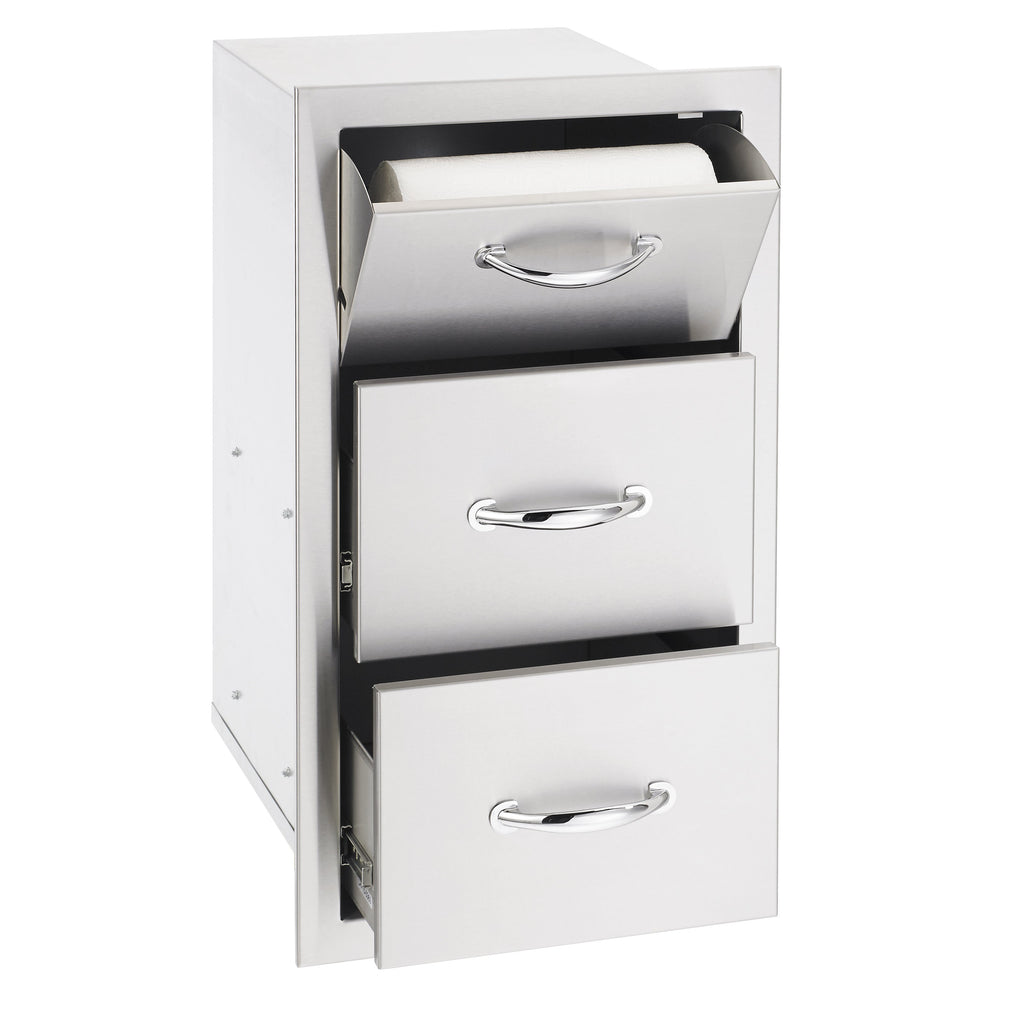 "17""  Vertical 2-Drawer & Paper Towel Holder Combo"