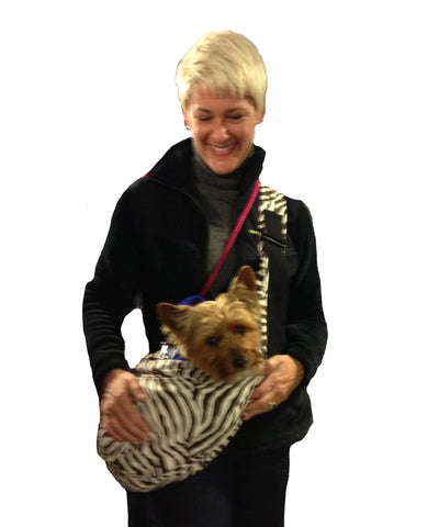Cross Body Carrier for your dog by Spoiled Dog Designs