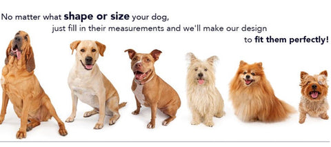Spoiled Dog Designs offers Custom Sizing