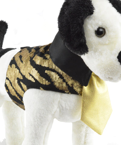 gold and black dog jacket for Le Chien