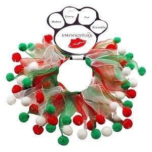 Christmas Red, Green & White Smoocher Dog Cat Party Collar