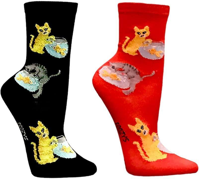 Cats Playing in a Fish Bowl Men's / Women's Sock - 2 colors