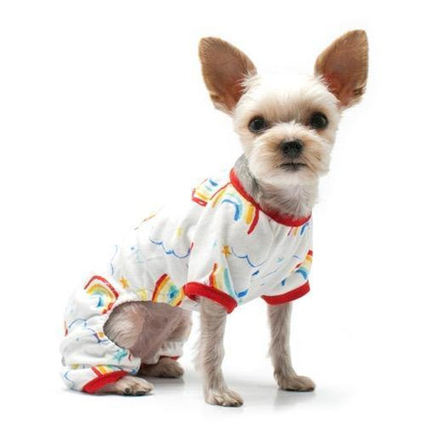 Rainbows and Stars Dog Cat Pajamas