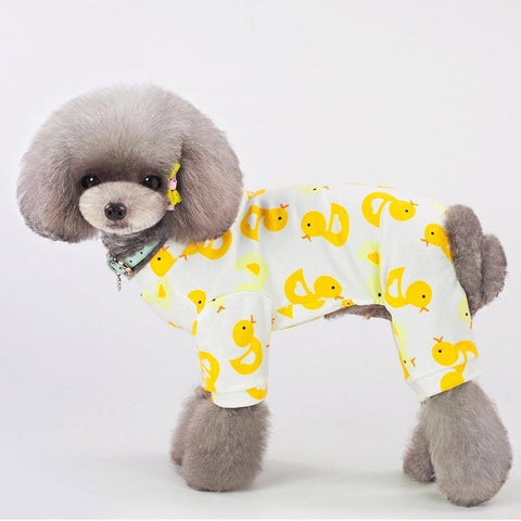 Yellow Duck Dog Cat Pajamas