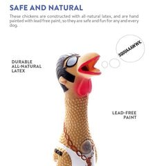 Earl Squawker Chicken Dog Toy - 2 Sizes