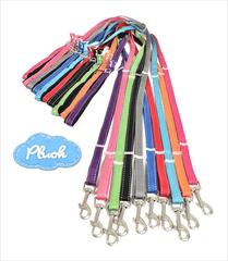 Plush Adjustable Reflective Leash, 12 Colors