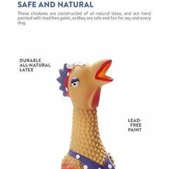 Henrietta Squawker Chicken Dog Toy - 2 Sizes