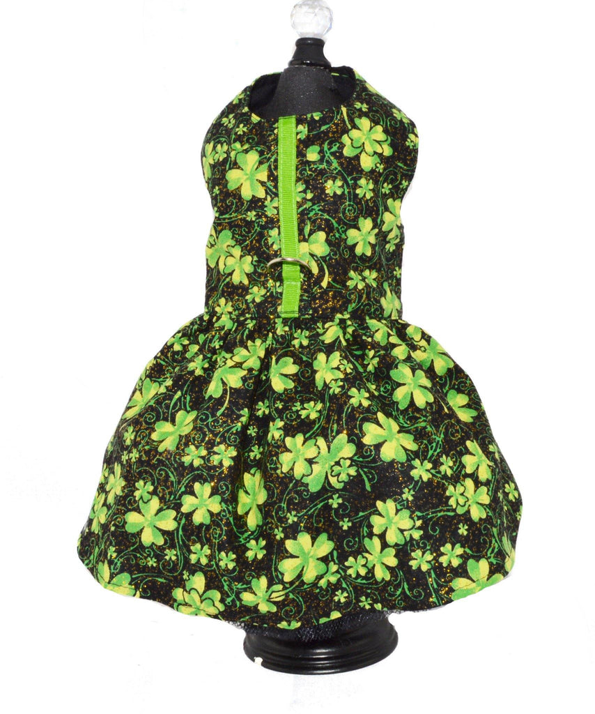 St. Patrick's Day Dog Harness Dress