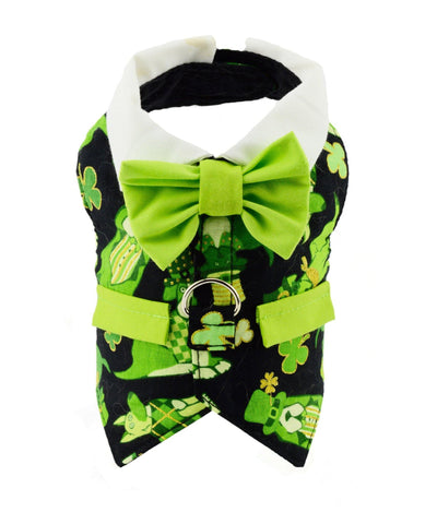 St. Patrick's Day Dog Vest With Built In Harness