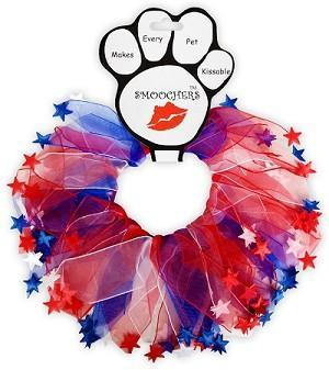 Red, White and Blue Smoocher Dog Cat Party Collar