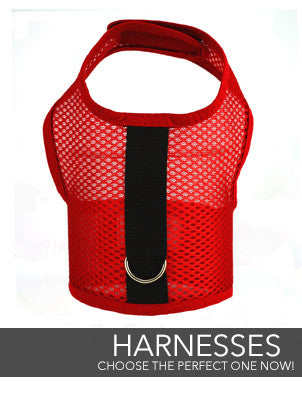 Vest Harnesses in regular and custom sizing by Spoiled Dog Designs