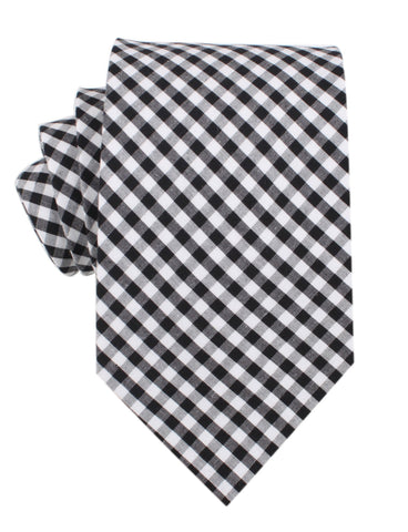 Melbourne Derby Day Mens Black and White Checkered Necktie