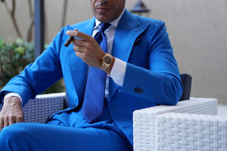 Blue Suit with Blue Tie